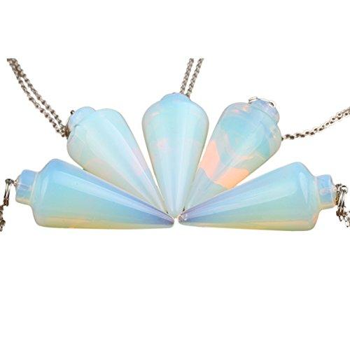 SUNYIK Opal Opalite Gemstone Stone Healing Dowsing Reiki Chakra Pendulum Opalite