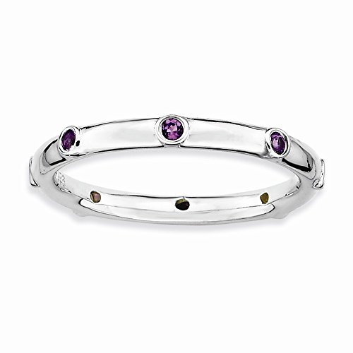 Sterling Silver Stackable Expressions Amethyst Ring from Stackable Expressions