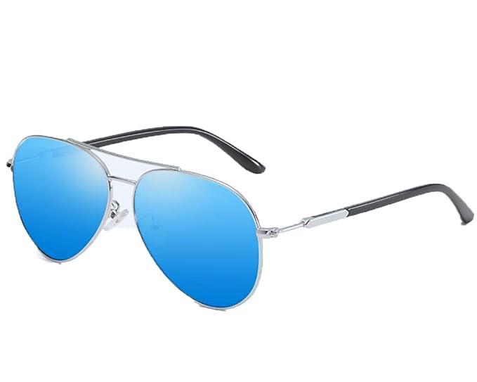 Runyue Gafas de sol Hombre Polarizadas Espejo Clásico Al-Mg ...
