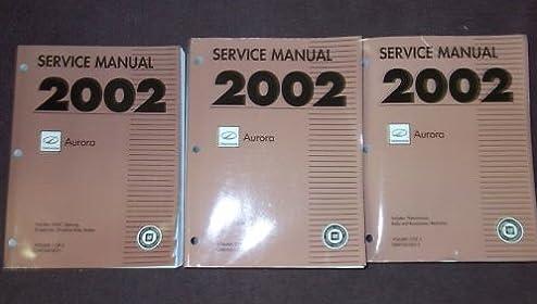 2002 oldsmobile aurora service repair shop manual set 3 volume set rh amazon com 2002 oldsmobile aurora service manual 1995 Oldsmobile Aurora