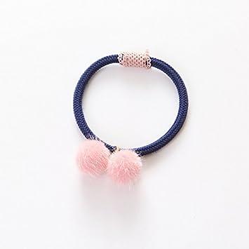 Amazon.com   Kids Girls Elastic Hair Bands Fashion Hair Rope with Balls  Mini Rubber Hair Band Hair Accessories   Beauty d74bebeab5b