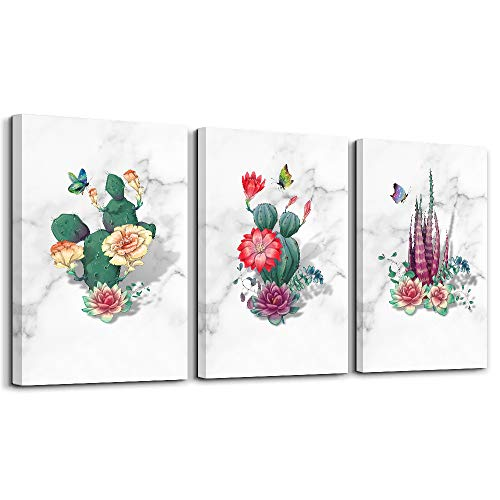 Decorate An Office (Wall Decor for Living Room Bathroom Wall Art for Bedroom Kitchen Artwork Canvas Prints Green Plant Flowers Painting 12