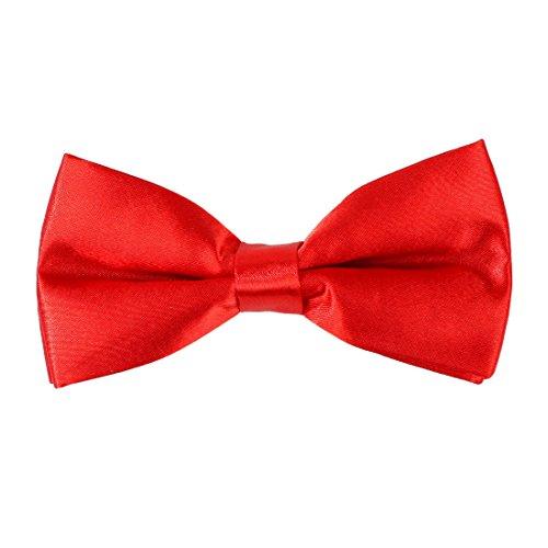 Dan Smith Multicolors Plain Pre-tied Bow Tie Microfiber Wedding Goods