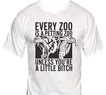 Every Zoo is a Petting Zoo-Unless You're a Little Bitch T-Shirt-Small-Heather Gray