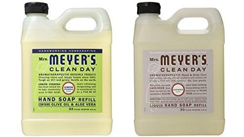 Mrs. Meyers Liquid Hand Soap Lavender & Lemon Verbena, 33 Oz Refill (Best Mrs. Meyers Liquid Hand Soaps)