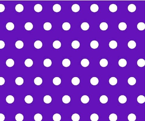 SheetWorld Crib Sheet Set - Polka Dots Purple - Made In USA
