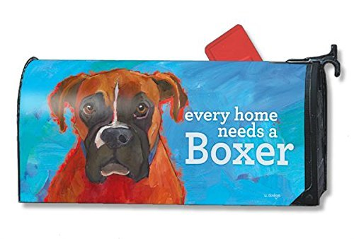 Mailwraps Boxer Dog Magnetic Mailbox Cover