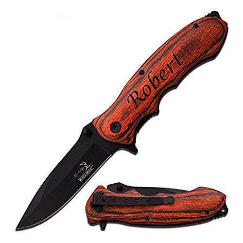 Elk Ridge Free Engraving - Quality Pocket Knife (ER-160BW)