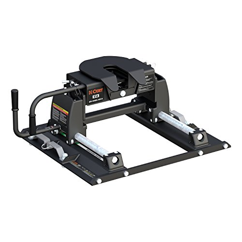 Curt Manufacturing 16674 E16 5th Wheel Hitch with Ford Puck System Roller for Short Bed Trucks (16,000 lbs. GTW) -