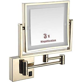 Amazon Com Wall Mounted Shaving Mirror Bathroom Mirror