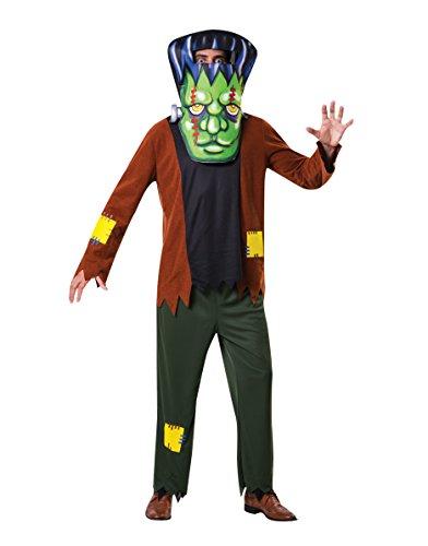 Bristol Novelty AF069 Big Head Frankenstein Costume, Men, Women, Multi-Colour, One Size -