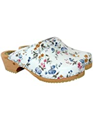 Lotta From Stockholm Swedish Clogs : Classic Clog in Wildflower Pattern