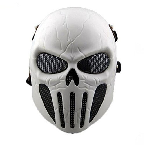 ATAIRSOFT Airsoft Skull Full Face Mask with Mesh