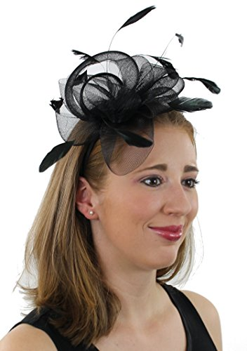 Ladies Night Fascinator Hat with Headban - Feather Hat Band Shopping Results