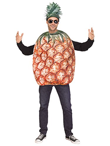 Fun World Men's Pineapple, Yellow, STD. Up to 6' / 200 lbs.]()