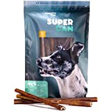 SUPER CAN BULLYSTICKS 12-inch Standard Odor Free Bully Sticks [ 8 Pack], 100% Natural Dog Treats and Chews. Healthy, Nutritious and Delicious. Dogs Favorite