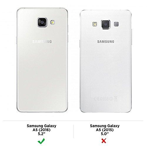 Funda Samsung Galaxy A5 2016 A510 Carcasa Gel Transparente Caso Suave Flexible TPU Claro Silicona Ultra Fina Delgado Back Cover Anti-Rasguño Protectora Trasera Case