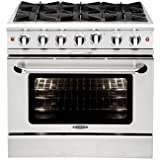 MCR366N | Capital 36 Freestanding Gas Range, 6 Sealed Burners - Natural Gas