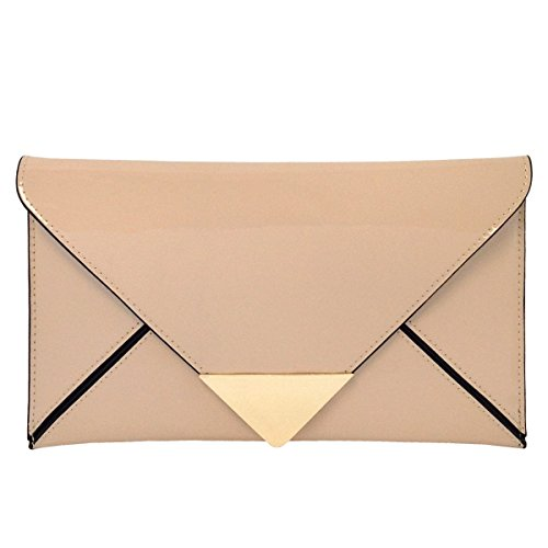 - JNB Faux Patent Leather Glossy Envlope Clutch