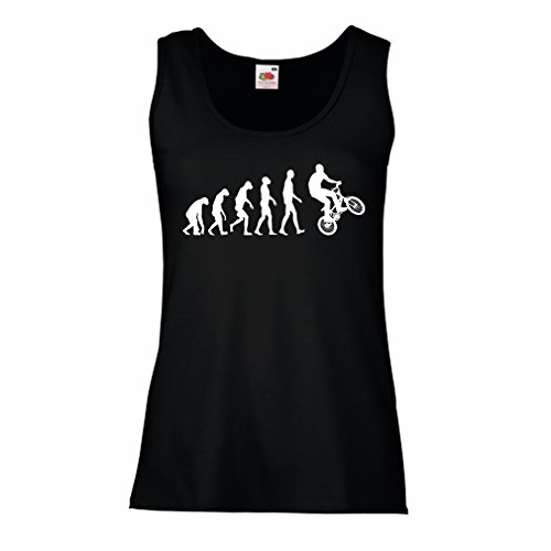 Evolution Engines Glow - Sleeveless t shirts for women Human Evolution and Bike - Bicycling – Bicycle accessories, cycling apparel (X-Large Black Multi Color)
