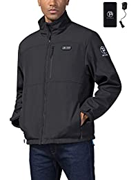 Men's Heated Jacket Soft Shell with Hand Warmer, with 7.4V Battery Pack