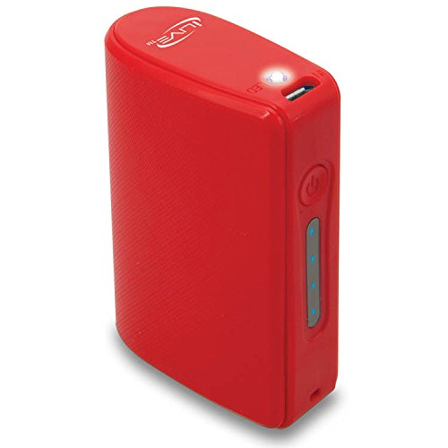 iLive Portable Power Charger for Universal Smartphones and Other USB Devices, 5200 mAH Battery, Retail Packaging ,Red (IPC525R)