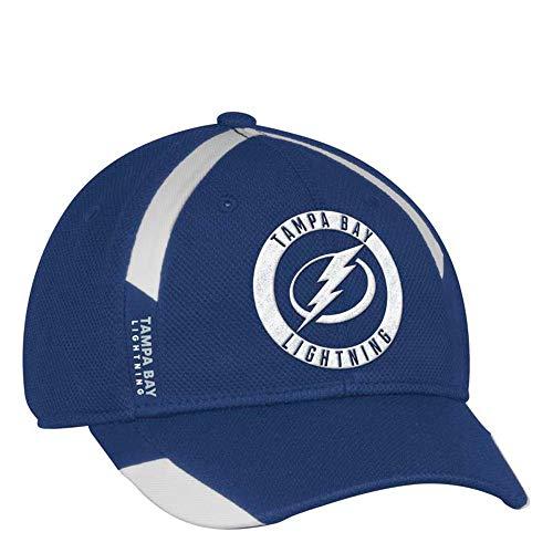 adidas Tampa Bay Lightning NHL Men's Blue Practice Jersey Hook Flex Hat (XL/2XL)