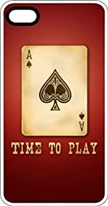 Ace Of Spades Time To Play White Rubber Case for Apple iPhone 5 or iPhone 5s