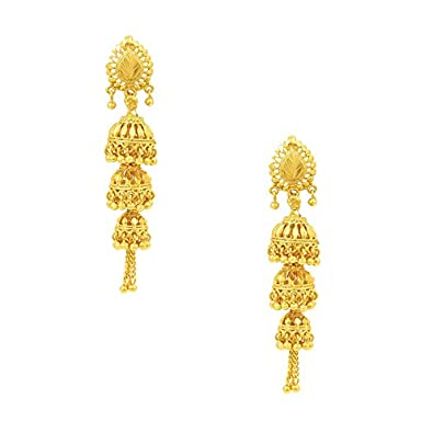 designs gold watch jhumka latest earrings youtube
