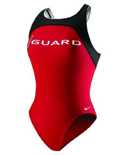 Nike Lifeguard Power Back Tank Swimsuit - Women's Size 26 Color VarsityRed