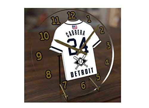 (FanPlastic M L B Baseball Jersey Themed Clock - All American League Team Colours - Our Very OWN 'Let's GO' Range of Clocks !! (Let's Go Tigers Edition))