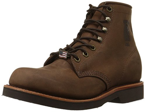 "Chippewa Men's 20065 6"" Rugged Handcrafted Lace-Up Boot,Chocolate Apache,12 D US"