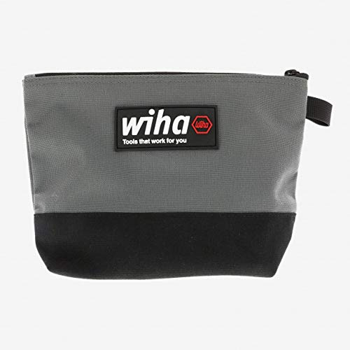 - Wiha 91473 General Purpose Zipper Bag, Black/Grey