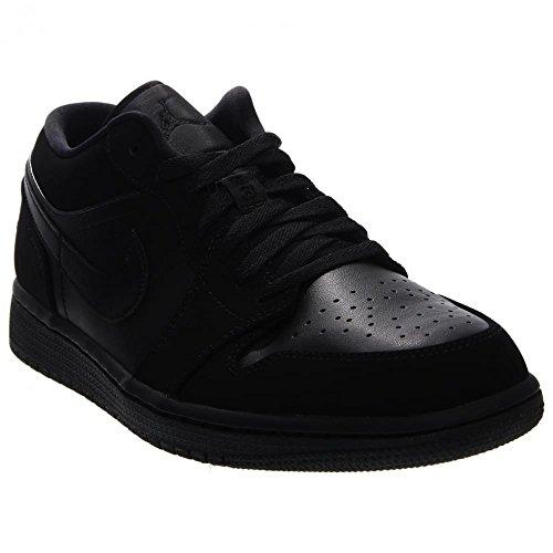 nike-jordan-mens-air-jordan-1-low-black-black-black-basketball-shoe-105-men-us
