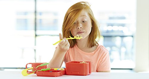 Fun Eating Devices–Sporkman 2-Pack Green/Yellow Chopstick and Spork Combination