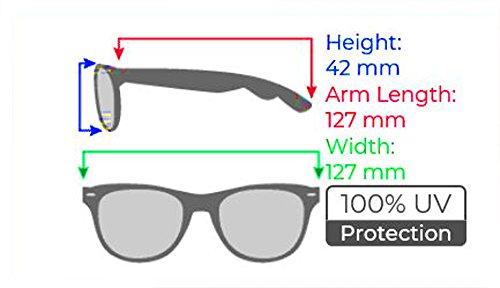 Classic 60's Half Horned Rimmed Wayfarers Gafas De Sol Sunglasses (Tortoise/Amber)