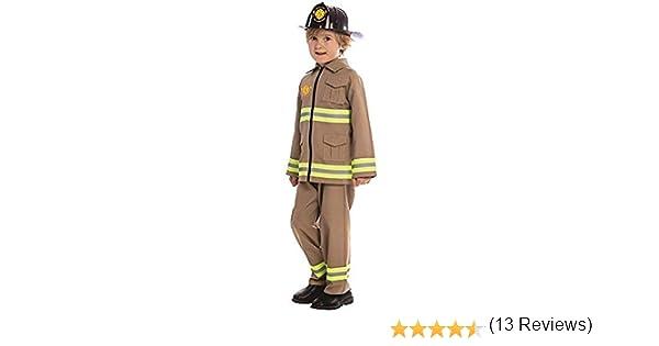 Dress Up America Disfraz de Bombero KJ para niños: Amazon.es ...