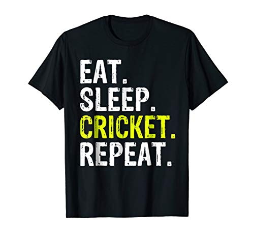 Eat Sleep Cricket Repeat Gift Sports T-Shirt