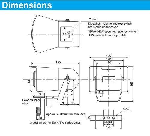 PATLITE EWS EWS-100KA-Y Horn Speaker Alarm Sounder Hooter Siren 8 x Built-in Alarm Tones by Patlite (Image #3)