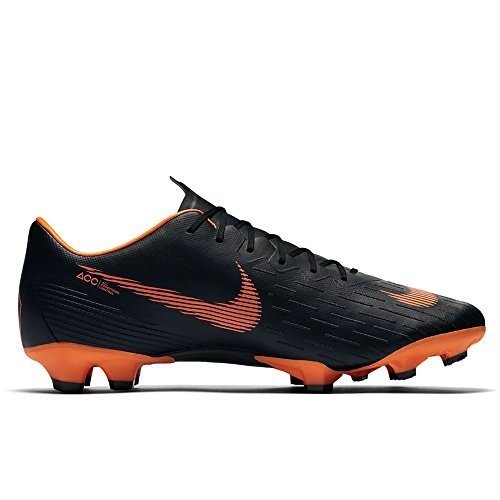 NIKE Men's Mercurial Vapor XII Pro FG Cleats - (Black/White/Orange) (9.5) (Mercurial Vapor Cleats)