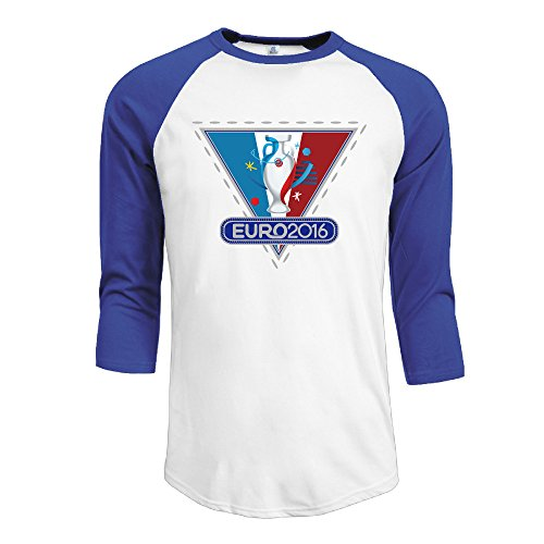 Baseball France European Cup Men 3/4 Sleeve Raglan Tee RoyalBlue XX-Large