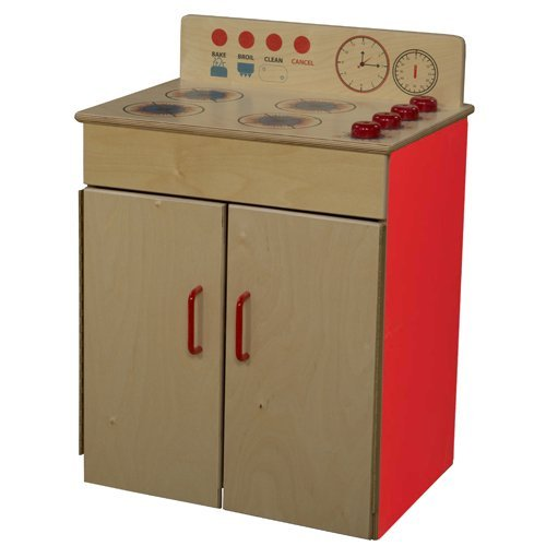 Kid's Play Classic Range w 2 Doors (Strawberry Red) by Wood Designs