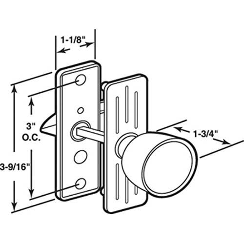 Aluminum Screen and Storm Door Knob Latch 3'' Screw Holes by C.R. Laurence (Image #2)
