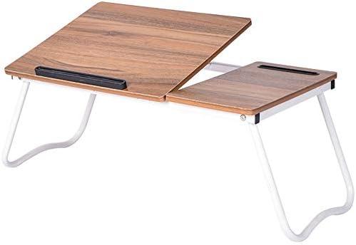 折りたたみテーブル 大型ラップトップトレイデスク折りたたみ式ラップテーブルベッドトレイ、テレビトレイフロアテーブルポータブル折りたたみテーブル ベッド、ソファ、オフィスに最適 (Color : Picture Color, Size : 64*36*27cm)