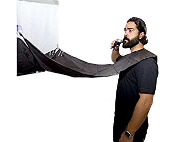 Beard Bib for Trimming and Shaving - Best Bib to Catch All Facial Hair and Prevent A Mess - Style Your Beard and Mustache - Best Beard Grooming Bib Around