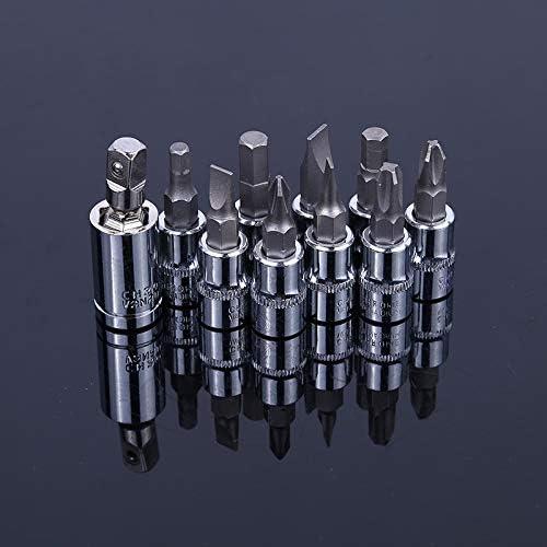 JPLJJ 19PC クロームバナジウム 鋼 メトリック Tスリーブ レンチヘッドセット