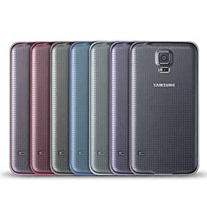 GJY Angibabe 0.45mm Transparent Jelly TPU Soft Cover Clear Case for Samsung Galaxy S5/i9600 , Purple
