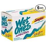 Wet Ones Antibacterial Towelette Singles, 24 Ea, (Pack of 6)