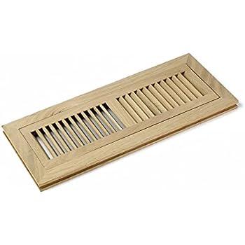 4 X 14 Inch White Oak Wood Flush Mount Floor Register Vent
