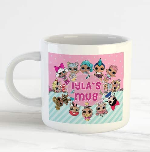 LOL doll surprise Personalised  Doll Mug  birthday stocking gift LOL Girls